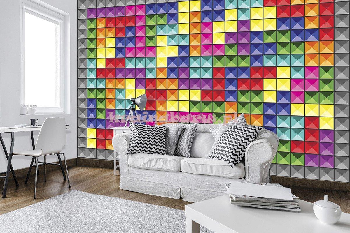 Fototapeta 3741 Kolorowa Mozaika 3d