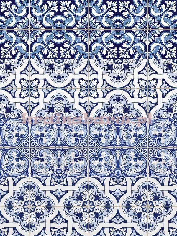 Naklejki Na ścianę Kafelki Niebieskie Spn221ws