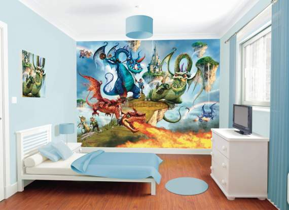 Fototapeta 3D 041 Land of Knights and Dragons
