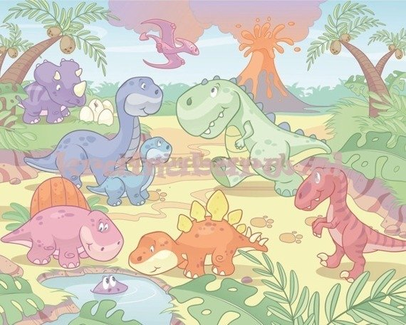 Fototapeta Baby Dino World 034